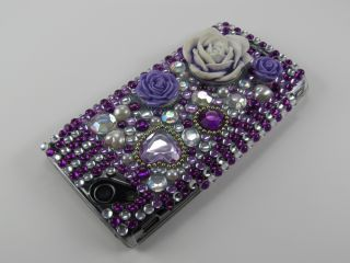 Sony Ericsson Xperia Arc Arc S Strass Schutz Hülle Cover Case Rose