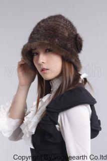 566 real knitted mink fur 6 color hat/Mütze Hut Hüte Pelzmütze