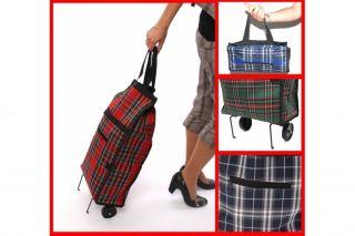 Einkaufstrolley Einkaufsroller Shopper Trolley, kariert