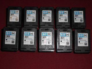10 leere original Patronen HP 301 Black CH561EE leer empty virgin
