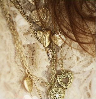 AG4645 New Fashion Jewelry Long multi hearts necklace