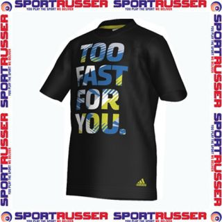 Adidas Graphic Fast Kinder T Shirt black