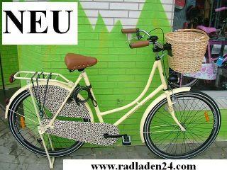 28 ZOLL Damen HOLLANDRAD Fahrrad Tiger Omafiets inkl. Korb NEU