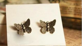 AG4731 New Fashion Jewelry Antique Womens Butterfly Earrings Stud