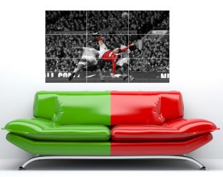 Wayne Rooney Over Head Kick Manchester United Large Wall Art Poster