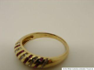 Rubin Zirkonia Ring 333 Gold 8kt Goldschmuck Schmuck Gelbgold