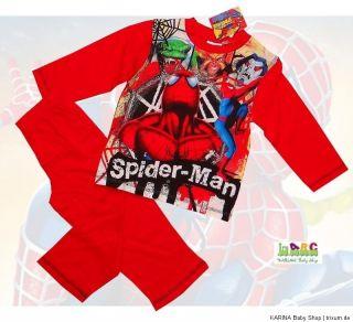 SUPER Schlafanzug Pyjama SPIDER MAN HEROS Rot Gr 98 104 116 128 NEU