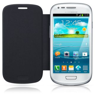 Genuine Samsung Galaxy S3 Mini Leather Flip Case EFC 1M7FBEC   Pebble