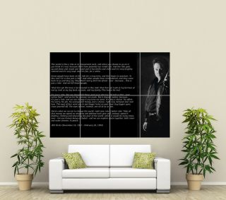 BILL HICKS RIDE QUOTE AMERICAN COMEDIAN GIANT ART POSTER PICTURE PRINT