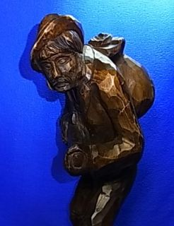 Beauty German Wood Carved Hunting Man POACHER Black Forest #AA