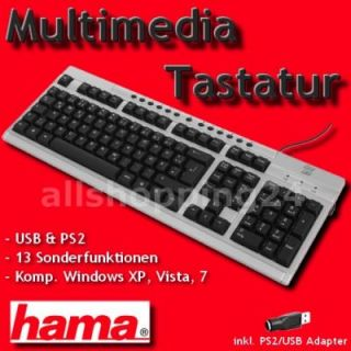 HAMA Easy Line PC Tastatur Computer Keyboard PS2 USB