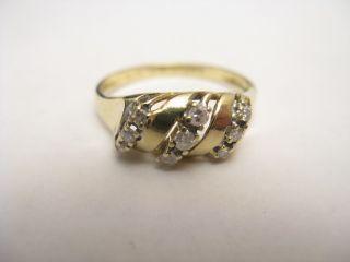 Damenring Goldring Gold 585 Brillanten Brilliantring verziert Ring