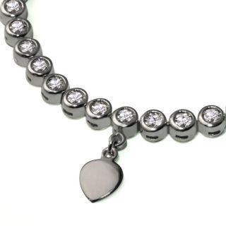 Weiss Gold 585 Armband 49 Diamanten 0,5 ct. Memoire