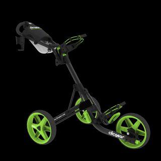 GreenGrassGolf 3 Rad Pushtrolley Clicgear 3.0 schwarz/matt/grün   Das