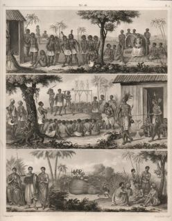 1851 Antique Print of Abyssinia Ethiopia African Costume
