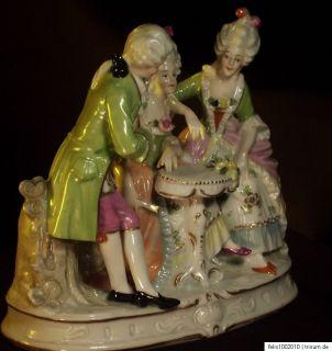 Porzellan Figur gruppe Rokoko Dresden porcelain figure group statuetta