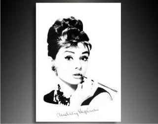 Bild auf Leinwan Audrey Hepburn Foto Druck Gemälde, Bilder