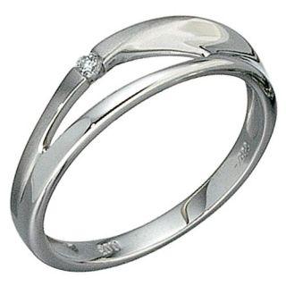 Ring Damenring aus 585 Gold, Weißgold mit Diamant Brillant