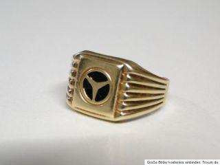 Herrenring   Goldring   585er Echtgold 14K   Mercedes Stern Selten