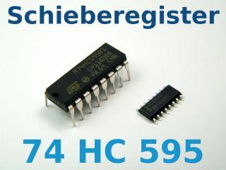 Bit Schieberegister 74HC595 DIL SMD Mikrocontroller Port Erweiterung