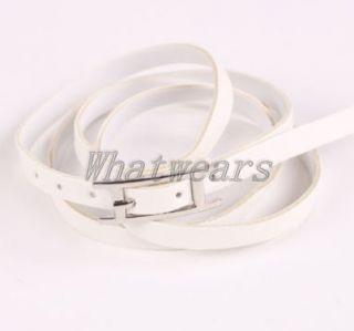 Mens Women Unisex Vintage Fashion Punk Buckle Style Leather Bracelet