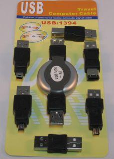 USB Adapter Set + 1m Aufroll Kabel #n608