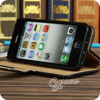 IPHONE 5 DELUXE LEDER TASCHE HÜLLE + 2 x SCHUTZFOLIE FÜR APPLE LTE