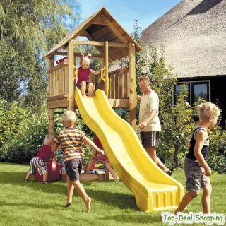 Spielturm Jungle Gym Cabin mit 3 m Rutsche und Sandkasten