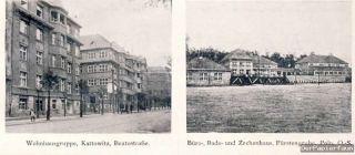 OBA Gleiwitz Oberschlesien Bau Reklame 1925 Kattowitz Fürstengrube