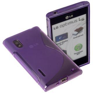 Protect Case transp. lila für LG Optimus L5 E610 Tasche Schutz Hülle