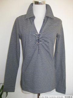 Streifen Langarm Shirt Heine Blau Weiß Gr. 44 NEU