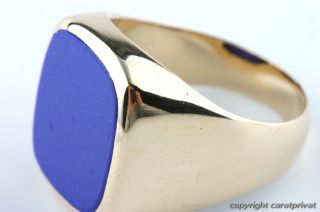 Lapisring in Gold Ring mit Lapis Herrenring 585
