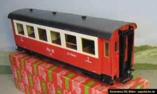 LGB 3064 Personenwagen der RhB, 4 achsig rot/beige
