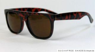 super coole Retro Sonnenbrille Gläser verspiegelt o. getönt Flat Top