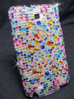 Samsung Galaxy Note N7000 i9220 Case Cover Huelle Bling Strass Bunt