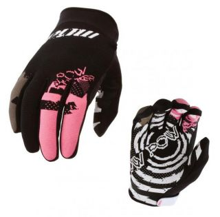 Pow Shocker Mens Ski Snowboard Winter Light Skin Gloves Black   S M L