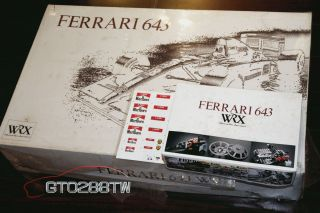 Rosso 1 8 Ferrari 643 F1 Diecast kit Grade Up Parts Set Tabacco Decal