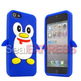 Apple iPhone 5 5G Lieb Pinguin Schutz Hülle Case Silikon Skin Etui