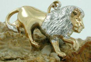 375 Gold Heren Damen Kinder Anhänger Einhänger LÖWE,matt glänzend