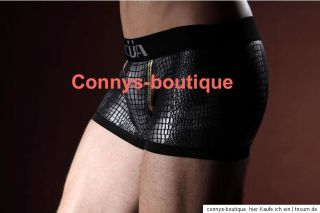 Männer MAN Latex Wetlook Hipster Pants Shorts Lack schwarz Gr. L  XL