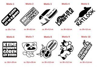 E269 Shocker DUB Aufkleber Sticker Autoaufkleber Auto Style Fun Tuning