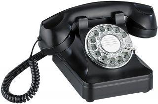 Telefon im Retro Style mit echter Waehlscheibe und mechanischer