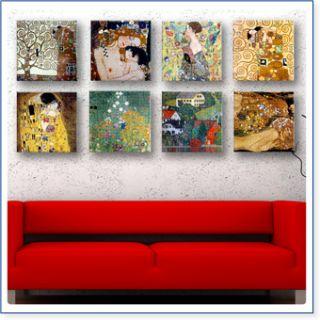 Riesen Gustav Klimt Der Kuss SET 8 pcs 30x30cm Kunstdrucke Druck