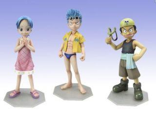 Neu One Piece Anime Manga Figuren 3 Stück H11~12CM 056