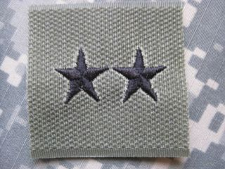 ARMY AUFNÄHER PATCH MAJOR GENERAL RANK KLETT NEU