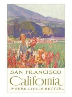 Mother and Child with Flowers, San Francisco, California Posters