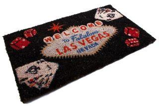 Fußmatte Las Vegas Casino Poker Black Jack Glücksspiel Kokosmatte