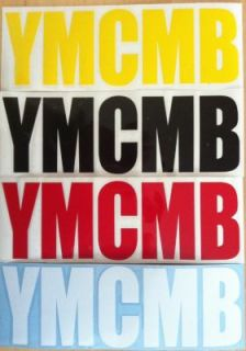 YMCMB STICKER AUFKLEBER REFLEKTIEREND YOUNG MONEY NY LA CAP HAT