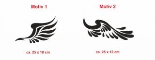 E13 Flügel Engelsflügel Autoaufkleber Sticker Aufkleber