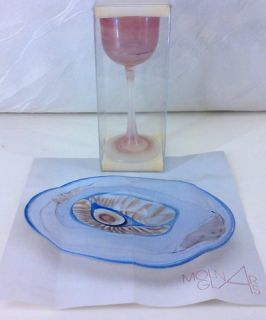 Likörglas Atelier Pavel Molnar mit Zertifikat + Signatur